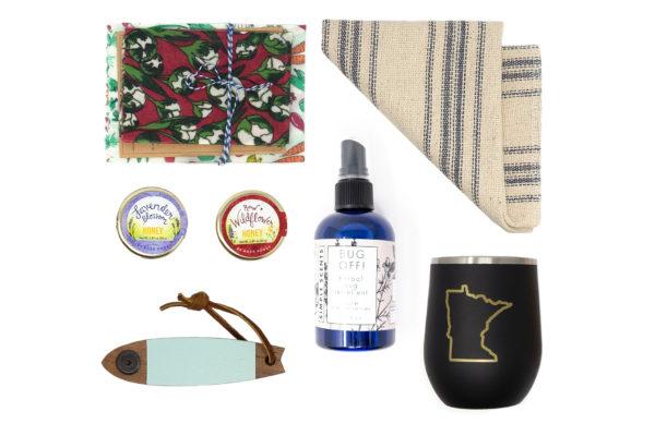 MinnBox picnic basket Gift Box items