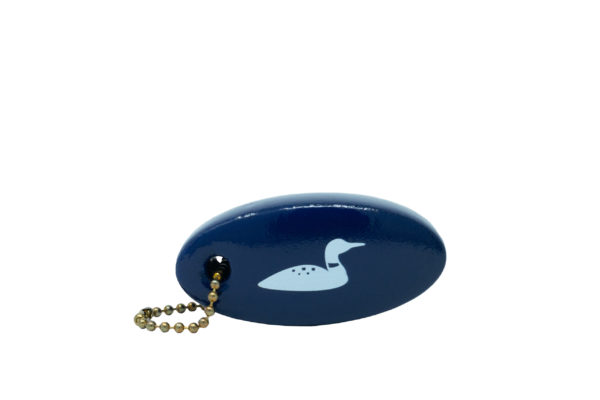 Foam Floaty keychain with loon print