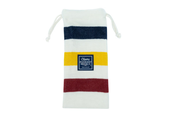 Faribault Woolen Mills Striped Wine Bag