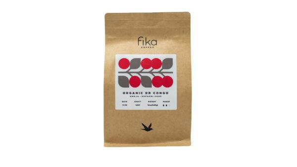 Bag of organic Fika Coffee