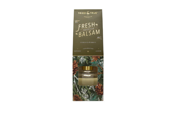 tried & true balsam scented diffuser
