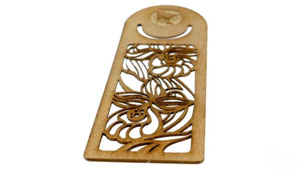mahogany wood bookmark