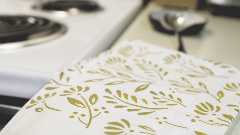 golden tea towel