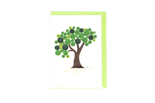 tree quilling card